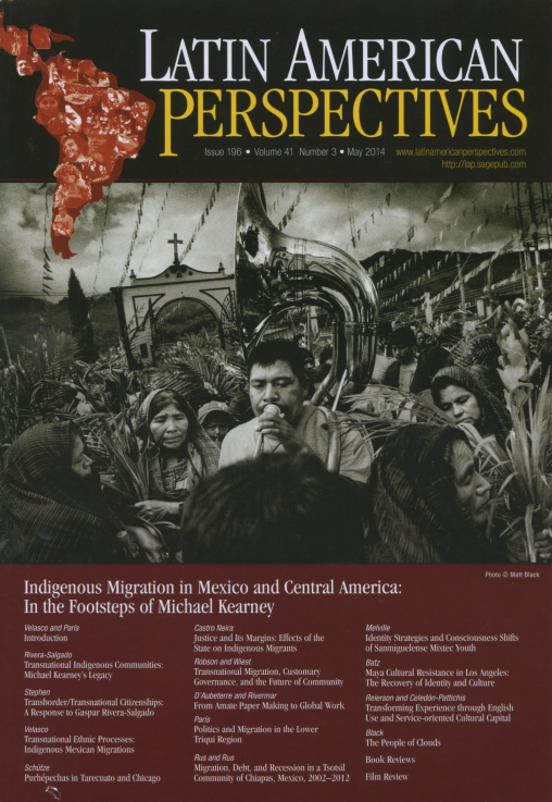 Latin American Perspectives Issue 196 May  2014 Volume 41 Number 3