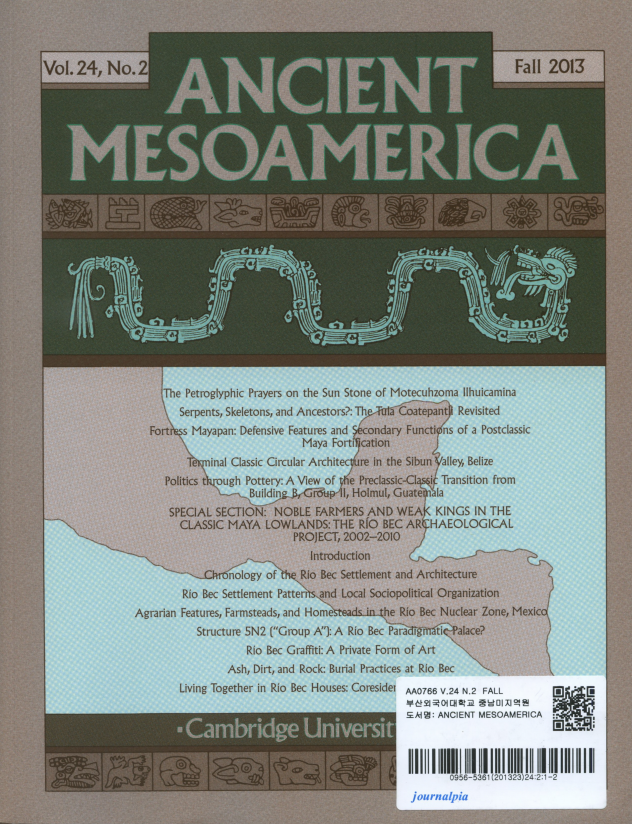 Ancient Mesoamerica Vol. 24 No.2 Fall 2013