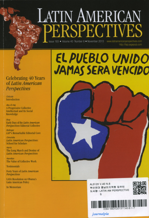 LATIN AMERICAN PERSPECTIVES, Issue 193, Volume 40, Number 6