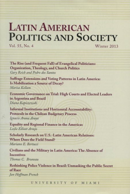 Latin American Politics and Society Vol.55 No.4 Winter 2013