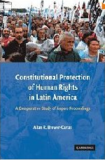Constitutional protection of human rights in Latin America : a comparative study of amparo proceedings