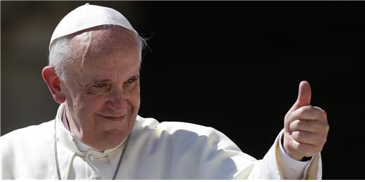 높은 자리의 낮은 자, 프란치스코 교황