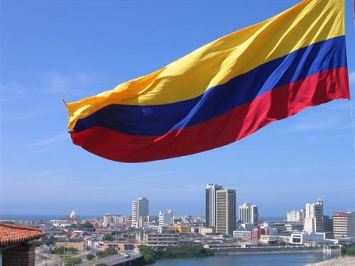 산토스 콜롬비아 대통령과 트럼프 미국 대통령 간의 첫 회담