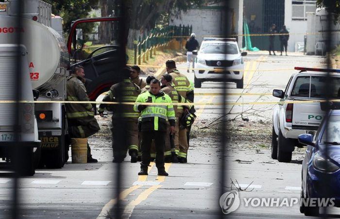 """80㎏ 폭탄車 콜롬비아 경찰학교서 '쾅'…""""10명 사망·65명 부상""""(종합2보)"""