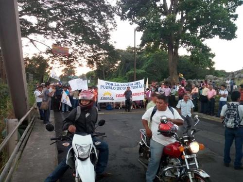 과테말라서 불법대선자금 의혹 대통령 퇴진 촉구 시위