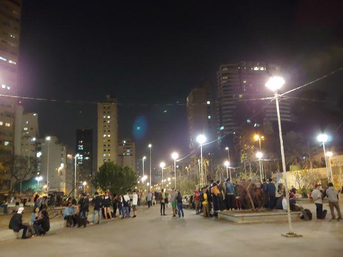 브라질 상파울루시 루스벨트 거리 시민공원