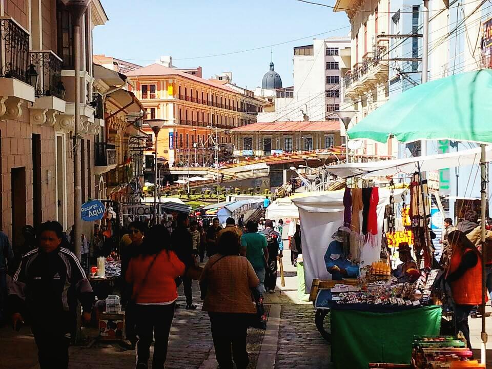 [볼리비아]알론소 광장으로 가는 길